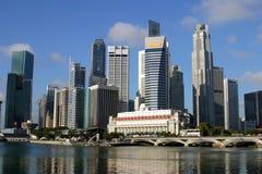 Horizonte de Singapur Fotografía de archivo libre de regalías