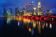 Horizonte de Singapur Foto de archivo