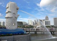 Horizonte de Singapur imagenes de archivo
