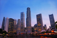 Horizonte de Singapur Imagen de archivo