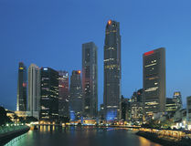 Horizonte de Singapur Fotos de archivo