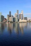 Horizonte de Singapur, centro de negocios Imagenes de archivo