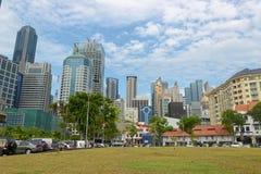 Horizonte de Singapur de Chinatown Fotos de archivo libres de regalías