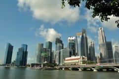 Horizonte de Singapur en el tiempo del día Imagen de archivo libre de regalías