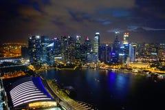 Horizonte de Singapur en la costa Fotografía de archivo libre de regalías