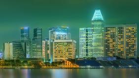 Horizonte de Singapur y opinión Marina Bay Fotos de archivo