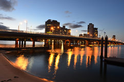 Horizonte de Southport - Gold Coast Queensland Australia Imagenes de archivo
