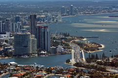 Horizonte de Southport - Gold Coast Queensland Australia Foto de archivo