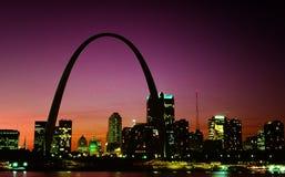 Horizonte de St. Louis Foto de archivo libre de regalías