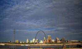Horizonte de St. Louis, Missouri fotografía de archivo