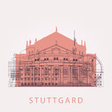 Horizonte de Stuttgart del esquema con las señales ilustración del vector