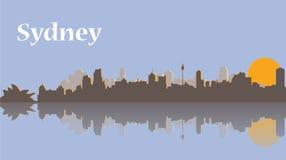 Horizonte de Sydney en la salida del sol Fotos de archivo