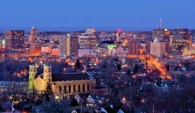 Horizonte de Syracuse fotos de archivo