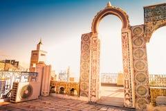 Horizonte de Túnez en el amanecer Imagen de archivo libre de regalías