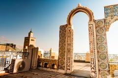 Horizonte de Túnez en el amanecer Imagenes de archivo