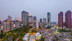 Horizonte de Taichung, Taiwán almacen de video