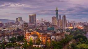 Horizonte de Taipei, Taiwán almacen de metraje de vídeo