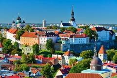 Horizonte de Tallinn Estonia Imagen de archivo libre de regalías