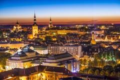 Horizonte de Tallinn Estonia Imagen de archivo