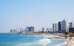 Horizonte de Tel Aviv Imágenes de archivo libres de regalías