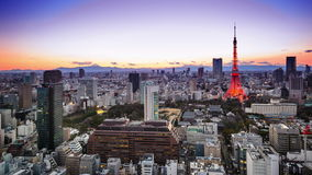 Horizonte de Tokio almacen de video