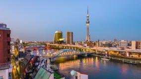 Horizonte de Tokio Japón almacen de metraje de vídeo