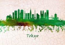 Horizonte de Tokio Jap?n stock de ilustración