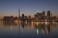 Horizonte de Toronto en color Foto de archivo