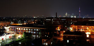 Horizonte de Toronto en la noche Foto de archivo libre de regalías