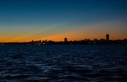 Horizonte de Toronto en la puesta del sol Fotos de archivo