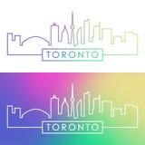 Horizonte de Toronto Estilo linear colorido ilustración del vector