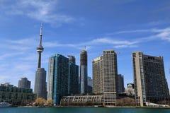Horizonte de Toronto Puerto del lago ontario fotografía de archivo libre de regalías
