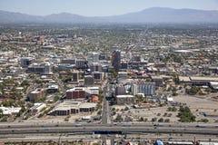Horizonte de Tucson Fotos de archivo libres de regalías