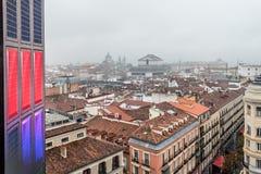 Horizonte de un centro de ciudad histórico europeo Imágenes de archivo libres de regalías