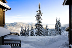 Horizonte de Vally en Noruega Imagen de archivo