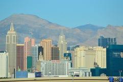 Horizonte de Vegas del aeropuerto Imagen de archivo libre de regalías