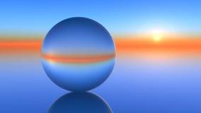 Horizonte de vidro da esfera ilustração stock