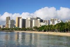 Horizonte de Waikiki Fotos de archivo