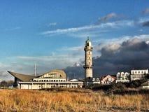 Horizonte de Warnemuende, mar Báltico Imagen de archivo