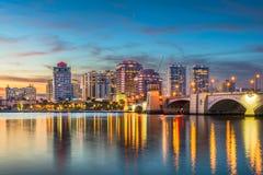 Horizonte de West Palm Beach la Florida imagen de archivo