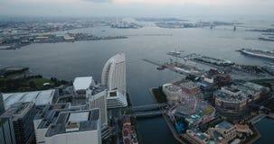 Horizonte de Yokohama Japón almacen de metraje de vídeo