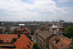 Horizonte de Zagreb imagen de archivo
