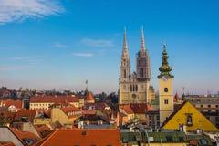 Horizonte de Zagreb fotos de archivo libres de regalías