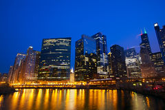 Horizonte del bucle de Chicago foto de archivo libre de regalías