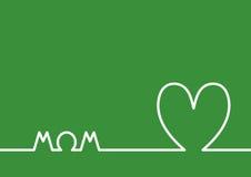 Horizonte del corazón, tarjeta de felicitación feliz del día del ` s de la madre Fotos de archivo