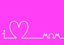 Horizonte del corazón, tarjeta de felicitación feliz del día del ` s de la madre Fotografía de archivo
