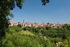 Horizonte del der Tauber del ob de Rothenburg Imágenes de archivo libres de regalías