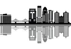 Horizonte del detalle de Louisville con el puente libre illustration