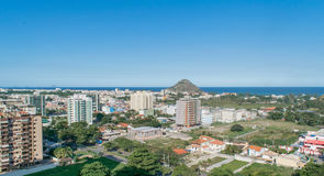 Horizonte del DOS Bandeirantes de Recreio con las porciones de edificios Fotografía de archivo libre de regalías