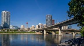 Horizonte del este del pueblo de Calgary Fotos de archivo libres de regalías